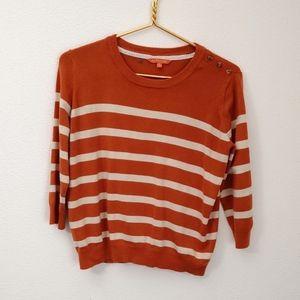 orange striped modcloth Sweater